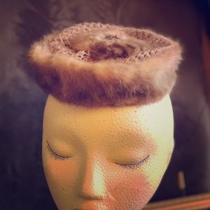 Vintage Mink Topper Or Hat, Genuine Fur